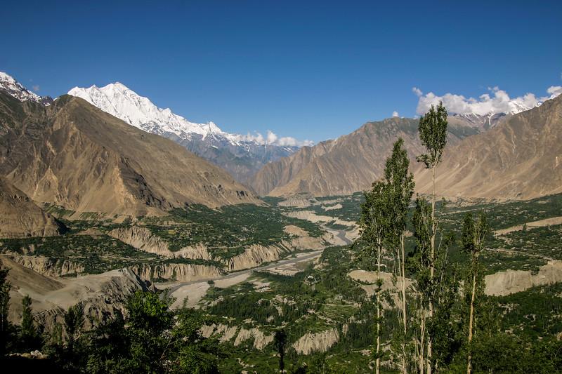 Rakaposhi and the Hunza valley
