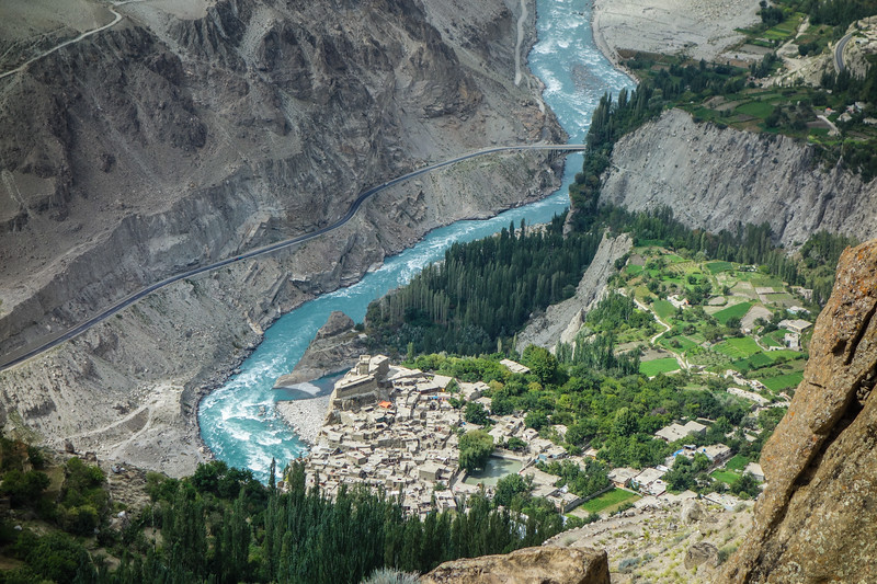 Altit fort and surrounding village, Hunza