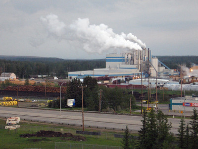 Paper mill at on the outskits of Whitecourt, Alberta.