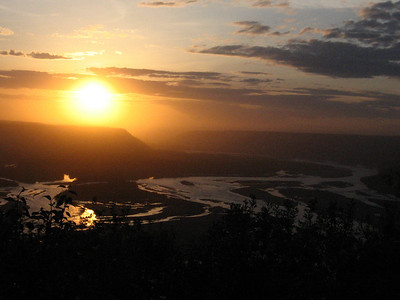 Sunset at the confluence of the Copper and Chitina Rivers.