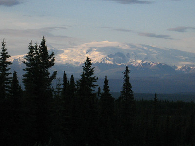 Mt. Wrangell from the Edgerton Highway.
