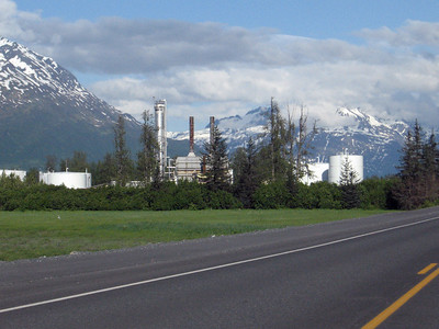 Oil refinery producing jet fuel on Dayville Road near the Alyeska Pipeline Terminal.