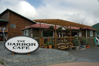 A quaint setting for the Harbor Cafe in Valdez.