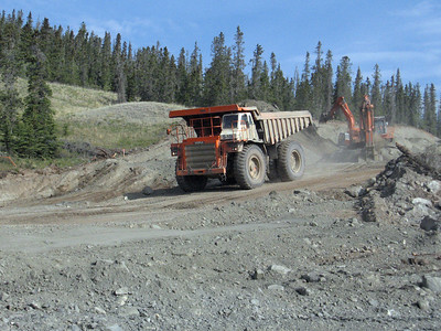 More construction at Kluane Lake, YT.