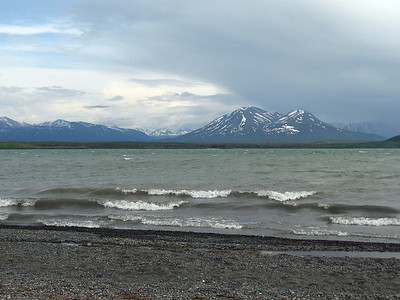 Lake Kathleen in Kluane NP, the Yukon.