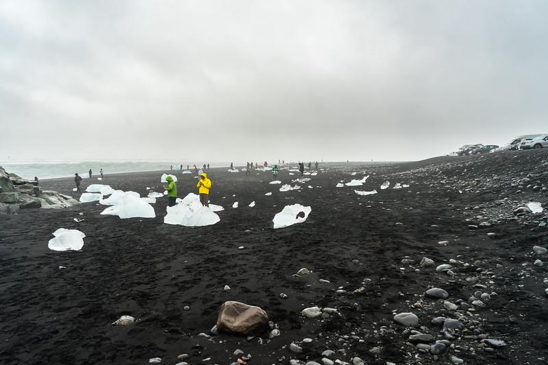 """Diamond Beach"", named for all the ice that washes ashore, across from Jökulsárlón Lagoon."