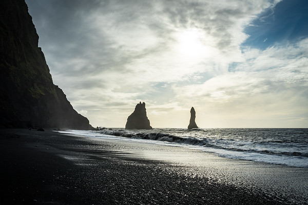 The basalt stacks of Reynisdrangar