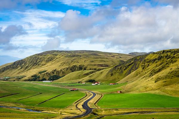 Farmland west of Vík