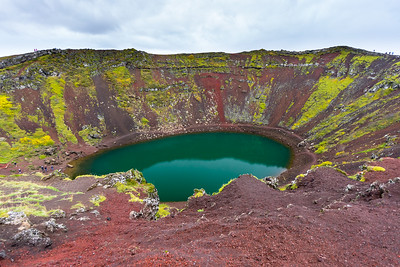 The awesome colors of Kerið Crater, along Iceland's Golden Circle.