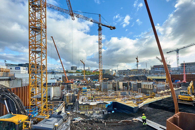 The price of progress.  Cranes as far as the eye can see in Reykjavík, Iceland
