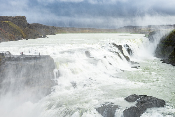 Massive Gullfoss, along the Golden Circle