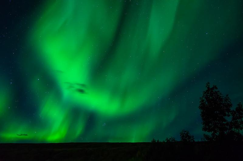 Northern Lights over Egilsstaðir, Iceland
