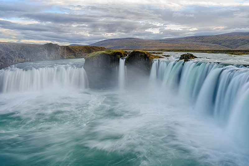 """Goðafoss, Iceland.  The """"falls of the gods"""""""