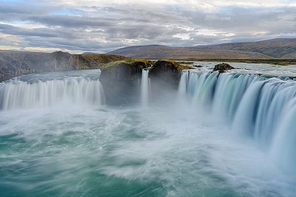 "Goðafoss, Iceland.  The ""falls of the gods"""