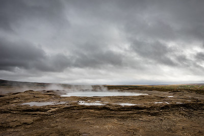 Geysir.  The original - the one all other geysirs were named after.  It never blew for us while there.