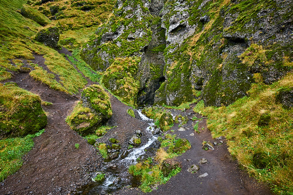 Entrance to the mystical Rauðfeldsgjá Canyon on the Snaefellsnes Peninsula, Iceland