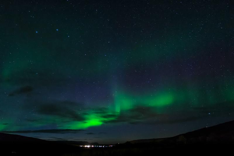 Northern Lights & Ursa Major over Egilsstaðir, Iceland
