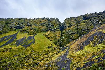 Entrance to the mystical Rauðfeldsgjá Canyon on the Snaefellsnes Peninsula, Iceland