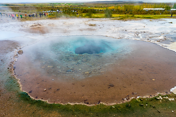 One of the thermal features at Geysir