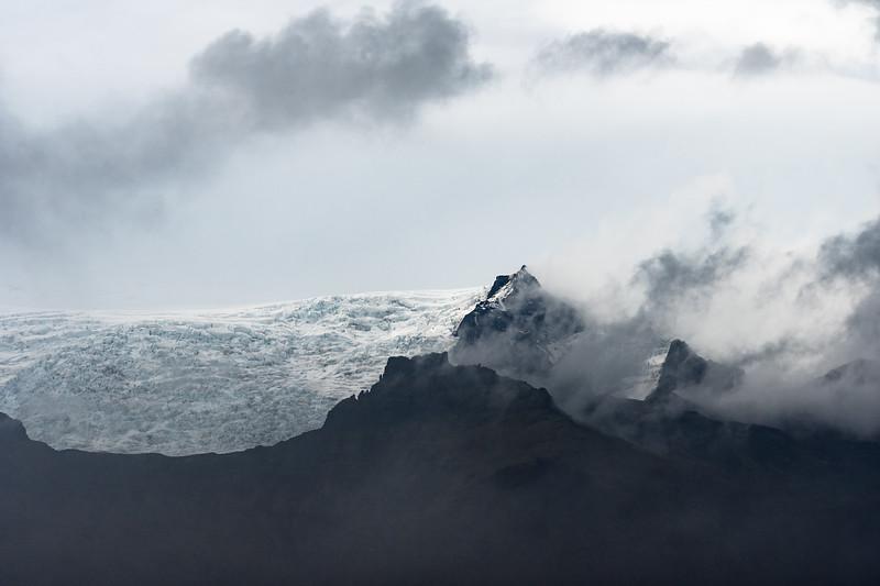 Clouds over Fjallsjökul glacier