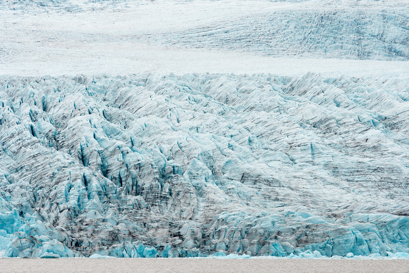 Closeup of Fjallsjökul glacier