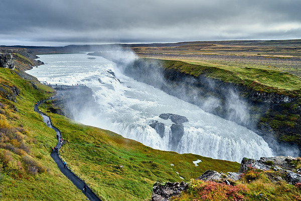 The enormous Gullfoss, along Iceland's Golden Circle