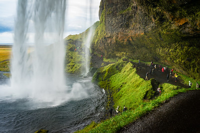Behind the infamous Seljalandfoss waterfall
