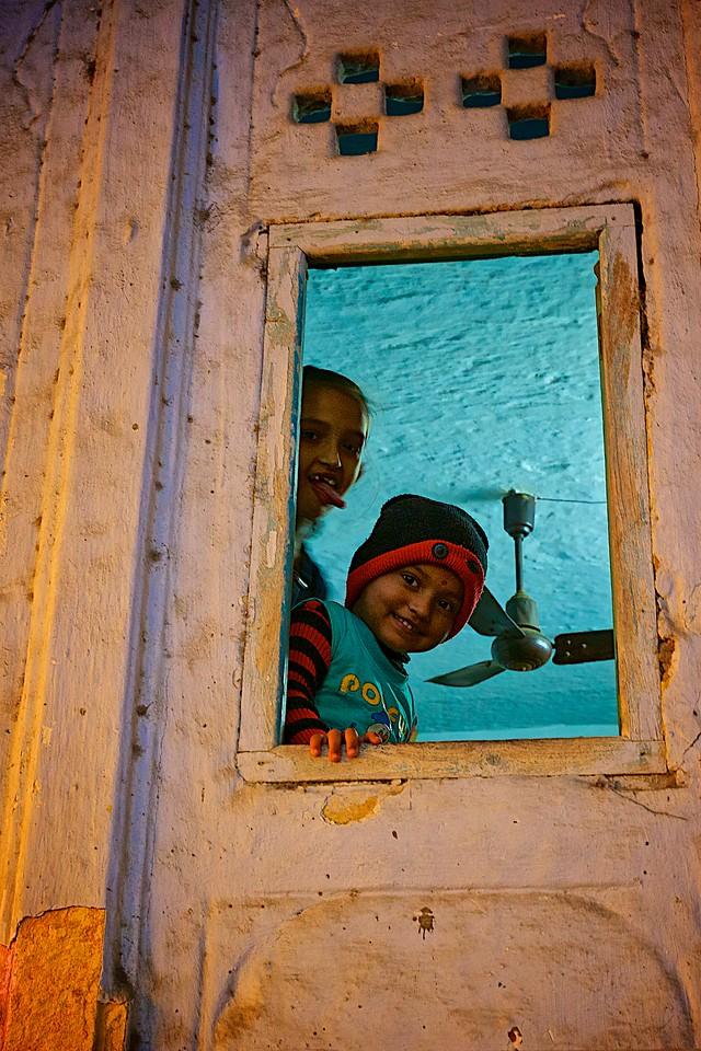 Peeking by the window