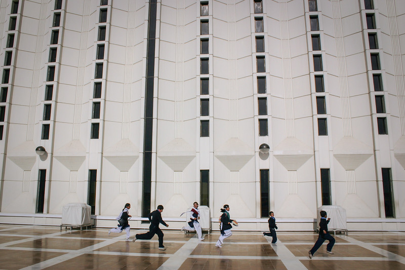 Children playing at Faisal Mosque, Islamabad