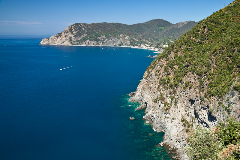 Looking back towards Monterosso al Mare, from the trail leading to Vernazza