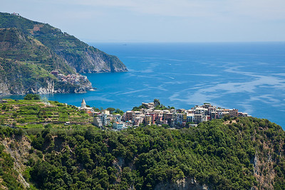 Corniglia viewed from the trail leading to Vernazza.  Manarola is the next town behind Corniglia.