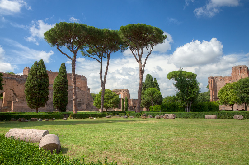 View of the complex from the surrounding gardens