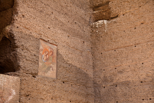 This out-of-place mosaic was done sometime in the second half of the 16th century, on the west side of the frigidarium