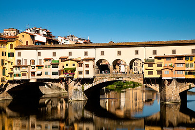 14th-century Ponte Vecchio was the only bridge in Florence not destroyed by Germans during WWII