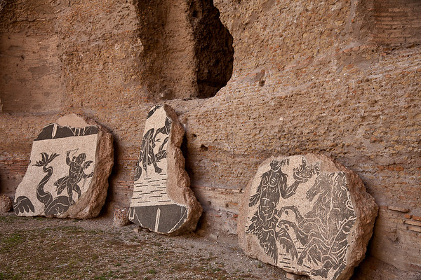 Mosaics in the hall to the southeast palaestra
