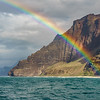 Rainbows on the Na Pali Coast, Kaua'i