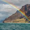 Rainbows on the Na Pali Coast, Kaua'i