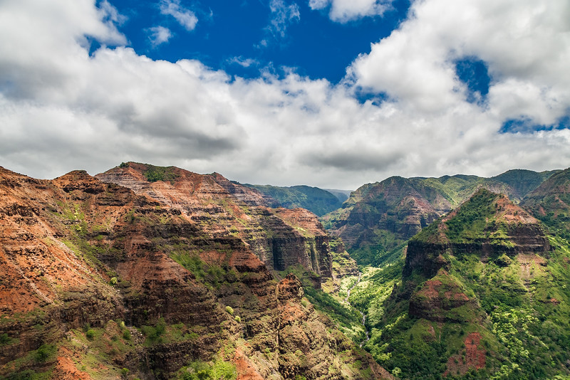 Aerial of Waimea Canyon, Kauai