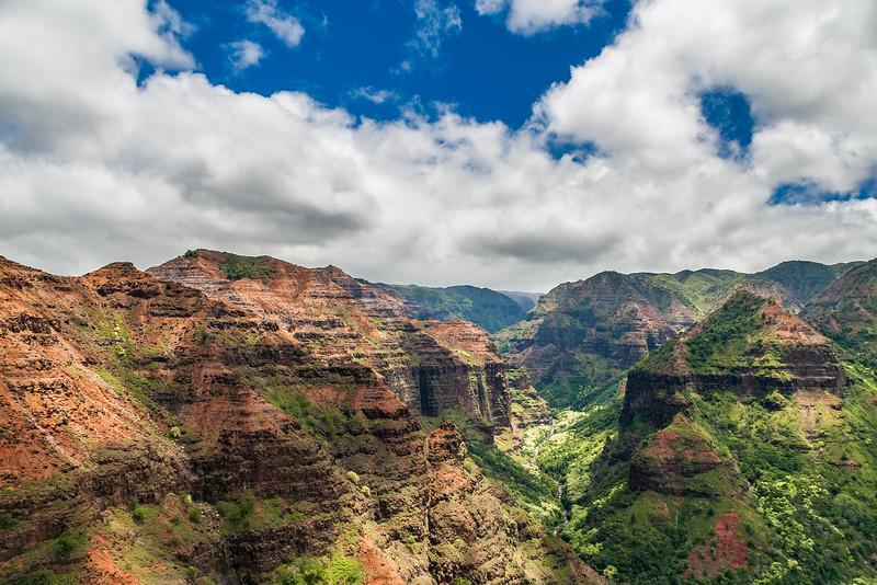 Aerial of Waimea Canyon, Kauai