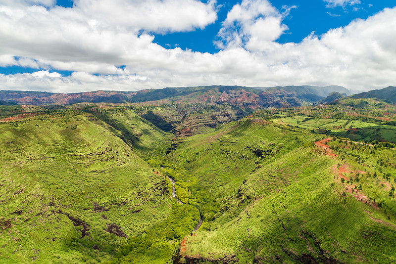 Waimea Canyon from a helicopter tour