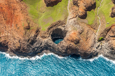 The Open Ceiling Cave on the Napali Coast