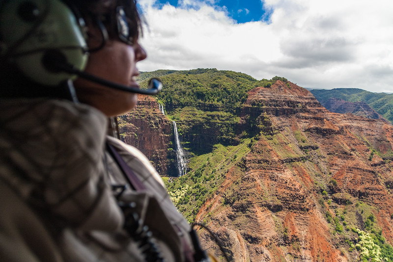 Helicopter tour of Waimea Canyon
