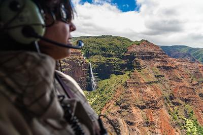 Helicopter tour of Waimea Canyon