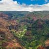 Waimea Canyon from a helicopter tour
