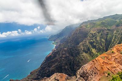 Helicopter tour of the Na Pali Coast, Kauai