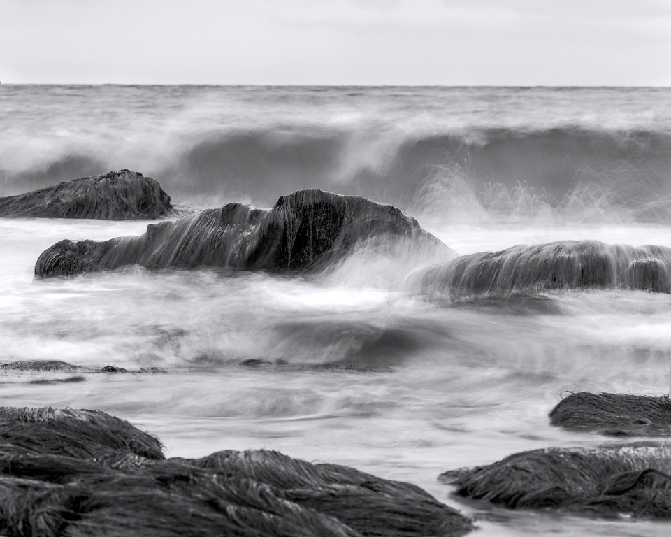 And The Sea Marches On bw