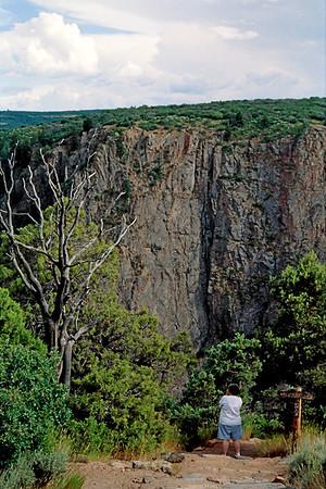 018_18a Black Canyon of the Gunnison<br /> <br /> (from NIKON N-65 35mm Kodak Pro 400ASA)