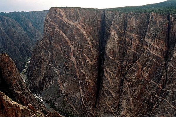 019_19a Black Canyon of the Gunnison<br /> <br /> (from NIKON N-65 35mm Kodak Pro 400ASA)