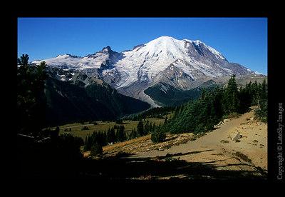 B16 Mt  Rainier from Sourdough Ridge