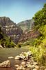 Nikon E (35mm film) June 2002 Colorado River through Glenwood Canyon along  Interstate 70